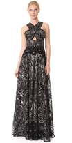 Marchesa Embroidered Gown