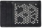 Alexander McQueen STUDDED SKULL LEATHER CARD HOLDER