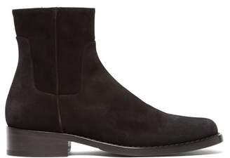 Raf Simons Suede Chelsea Boots - Mens - Black