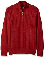 men's zip front cable knit sweater - ShopStyle