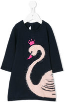 Little Marc Jacobs swan intarsia dress