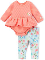 Boppy Coral Floral Skirted Bodysuit & Leggings - Infant