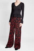 Diane von Furstenberg Knit Pullover with Statement Cuffs