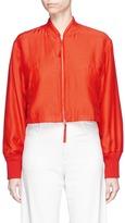 Alexander Wang Padded cropped silk-cotton bomber jacket