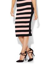 New York & Co. Pull-On Sweater Skirt - Stripe