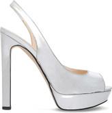 Nine West Valorie3 metallic platform sandals