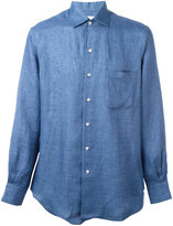 Loro Piana plain shirt - men - Linen/Flax - XL
