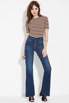 Forever 21 FOREVER 21+ Patch Pocket Flare Jeans
