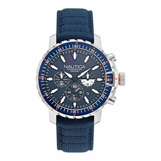 Nautica Men's Icebreaker Stainless Steel Japanese Quartz Watch with Nylon Strap