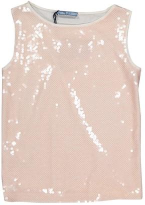 Prada White Glitter Tops