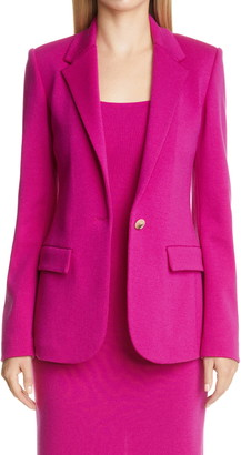 St. John Notch Collar Milano Knit Jacket