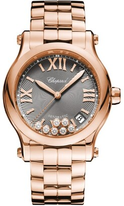 Chopard Rose Gold Happy Sport Automatic Watch 36mm