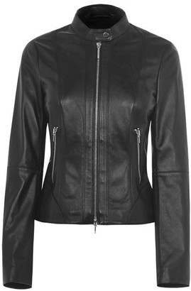 HUGO BOSS Lonia Leather Jacket