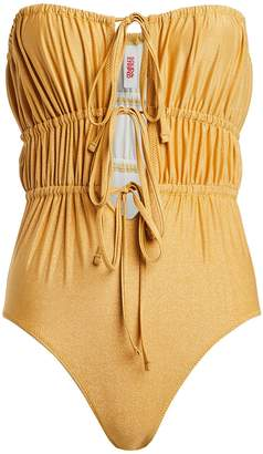 Solid & Striped Paula Strapless One-Piece Swimsuit