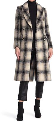 Topshop Checked Crombie Long Coat