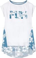 MonnaLisa Asymmetrical bi-material T-shirt