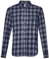 French Connection Blue Monday Check Shirt