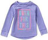 Under Armour Baby Girls 12-24 Months Born For This Heathered Waffle-Knit Long-Sleeve Tee
