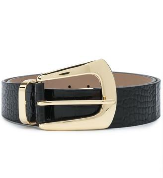 B-Low the Belt Embossed Crocodile-Effect Belt