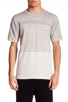 Helmut Lang Short Sleeve Two-Tone Knit Shirt