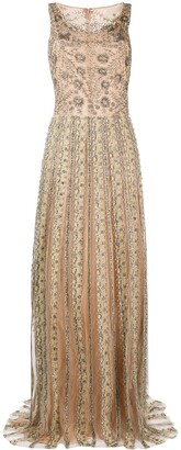 Valentino Pre Owned 2012 Sequin Embroidered Evening Dress