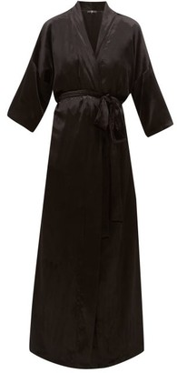 Edward Crutchley Velvet Robe Coat - Black