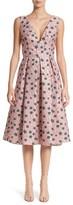 Lela Rose Women's Floral Matelasse A-Line Dress