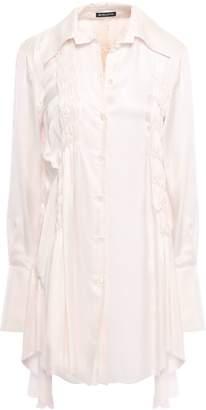 Ann Demeulemeester Shirred Mousseline Shirt