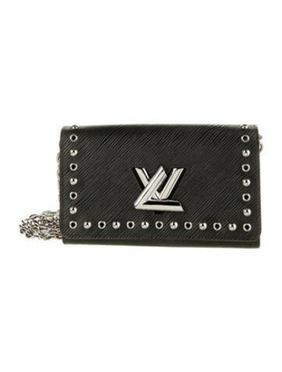 Louis Vuitton Epi Twist Stud Chain Wallet Black
