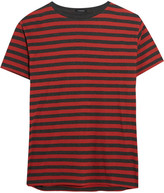 R 13 Striped Cotton T-shirt - Red