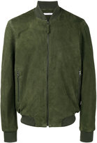Lot 78 Lot78 suede zip front bomber jacket