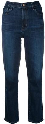 J Brand Alma high-rise straight jeans