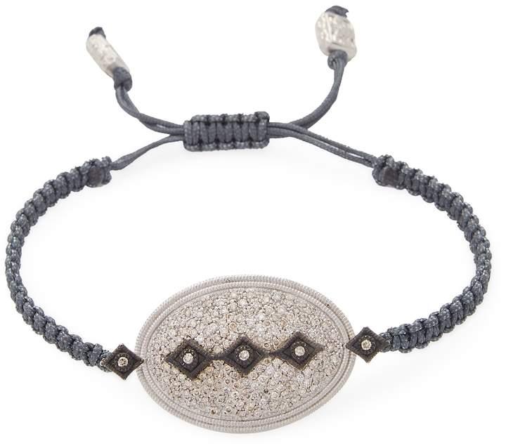 Armenta Women's Sterling Silver Oval Diamond Pull Bracelet