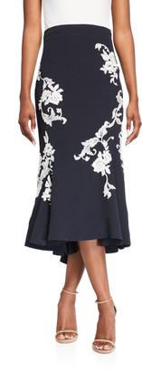 Alexis Enita Floral Applique Tulip Skirt