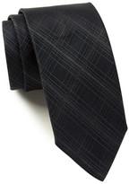 HUGO BOSS Silk Tonal Plaid Tie