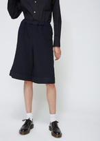 Comme des Garcons Navy Drawstring Shorts