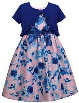 Bonnie Jean Girls Short Sleeve Dress Set, 16.5 Plus , Blue