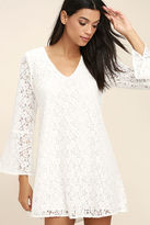 Lucy-Love Lucy Love Wild Child White Lace Long Sleeve Dress
