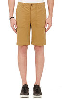 Officine Generale Men's Cotton Shorts-BROWN