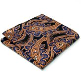 Shlax & Wing Silk Mens Pocket Square Paisley Blue Hanky New Prime