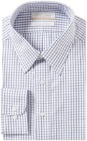 Roundtree & Yorke Gold Label Big & Tall Non-Iron Full-Fit Point Collar Checked Dress Shirt