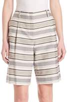 Lafayette 148 New York Women's Striped Rivington Shorts