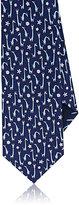 Salvatore Ferragamo Men's Giraffe-Print Silk Necktie