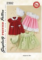Simplicity A XS-S-M-L Sewing Pattern 2392 Babies Vintage Layette