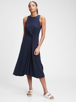 Gap Sleeveless Knot-Twist Midi Dress