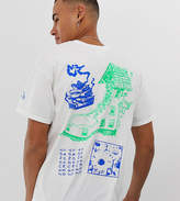 Crooked Tongues oversized t-shirt in white with back print