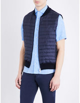 Corneliani Quilted Shell And Cotton Gilet