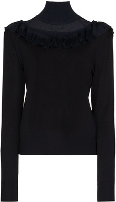 Chloé Mesh Panel Merino Wool Jumper