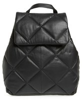 Topshop Bryan Puffer Quilted Leather Backpack - Black
