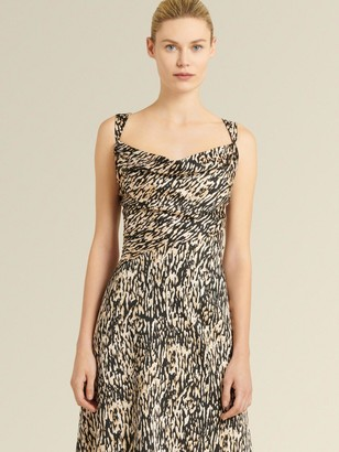 DKNY Donna Karan Women's Cowl Neck Cocktail Dress - Bark - Size 16